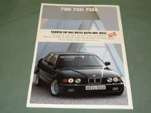 "BMW ""730i 735i 735iL "" 1990 German text brochure"
